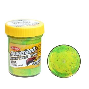 Паста - POWER BAIT Natural - Fluo Green Yellow - Liver