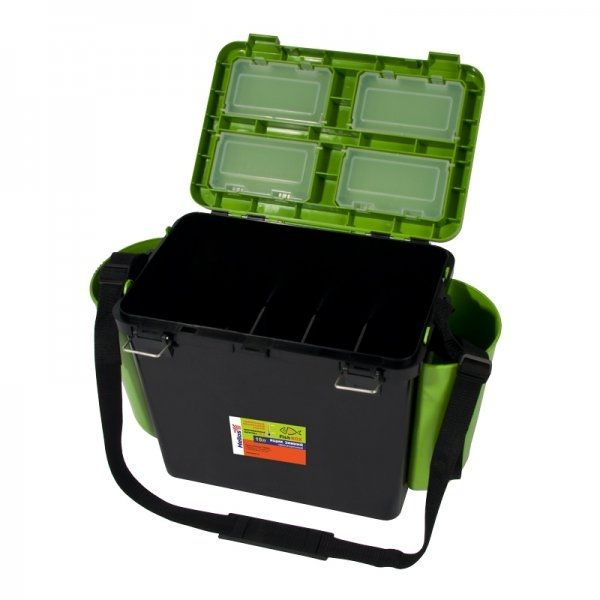 Ice Fishing Seatbox Tonar Helios - 19l, 2 section, green