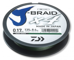 Braided line  Daiwa J-BRAID X4 - 135m / dark green