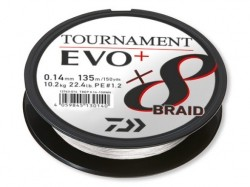 Плетено влакно Daiwa TOURNAMENT X8 BRAID EVO+ white 135m