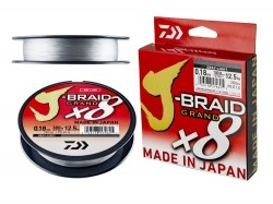 Daiwa J-BRAID GRAND X8 light grey 270m