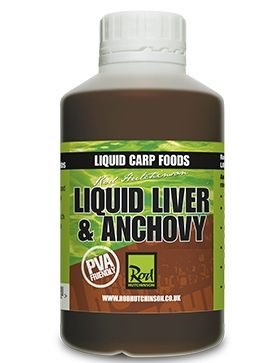 Течен ароматизатор Rod Hutchinson LIVER & ANCHOVY LIQUID CARP FOOD 500ml