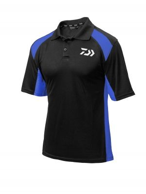 DAIWA POLO SHIRT BLK/BLUE L