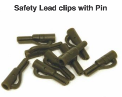 SAFELY LEAD CLIPS WITH PIN GREEN